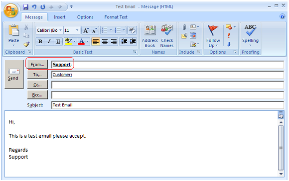 how to delete an email sent from outlook