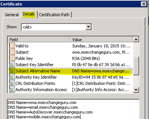 Create a new Exchange certificate on Exchange 2013