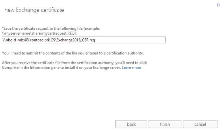 Create A New Exchange Certificate On Exchange 2013 Msexchangeguru