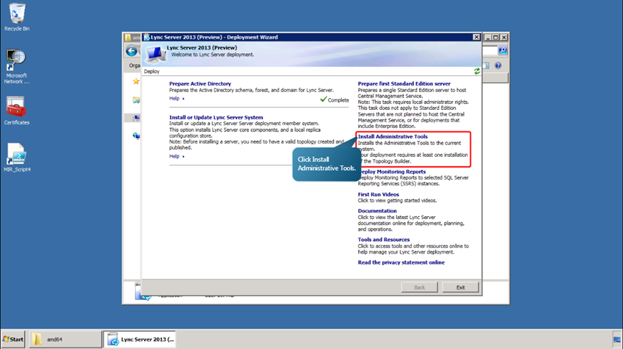 Installing and configuring Lync Server 2013 « MSExchangeGuru com