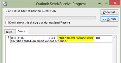 Offline Address Book Outlook 2007 Error