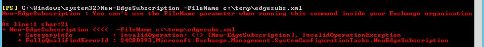 Edge error