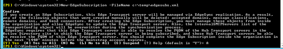 Edge export