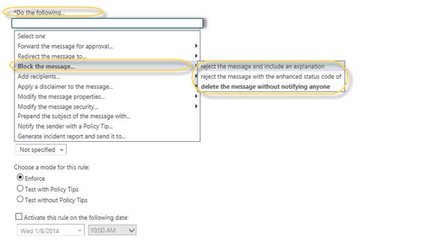 EOP / Office 365: Block sender email address ...