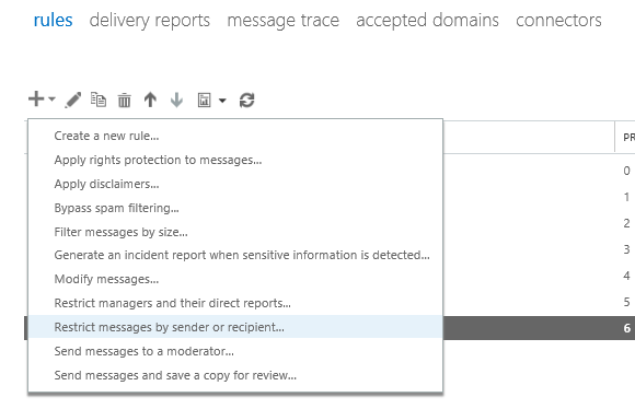 EOP / Office 365: Block Recipient email address ...