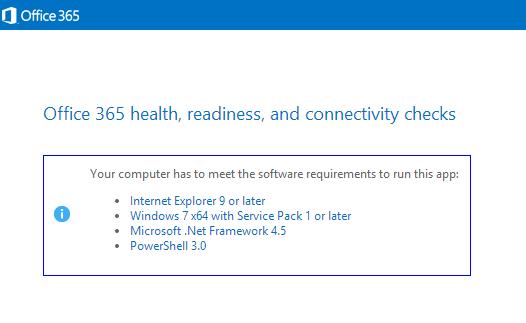 Office 365: deployment readiness tool walk through.