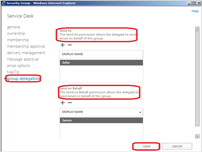 Exchange 2013 – How to grant permissions for a Group