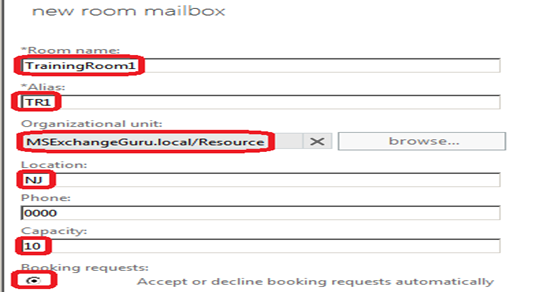 Exchange2013 Create And Manage Room Mailboxes And Room