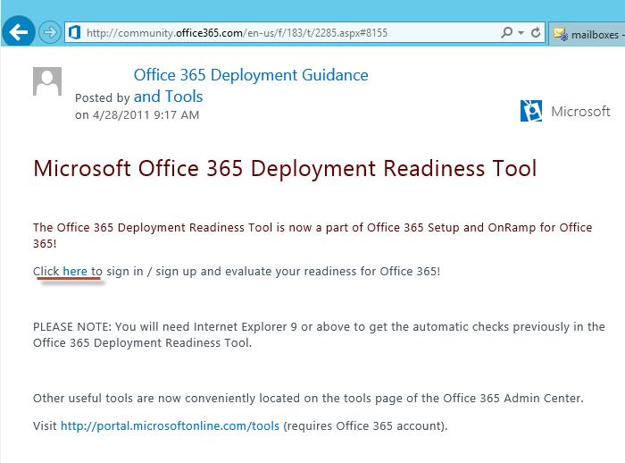 Office 365 deployment tool for network assemsent microsoft tech.