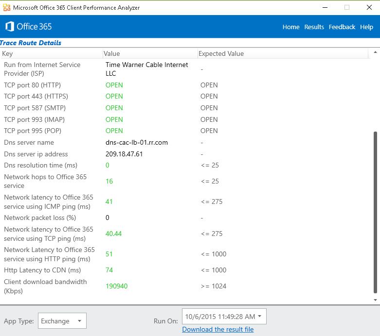 Microsoft Office 365 Client Performance Analyzer Walkthrough
