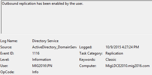 24444 active directory operation has failed to meet
