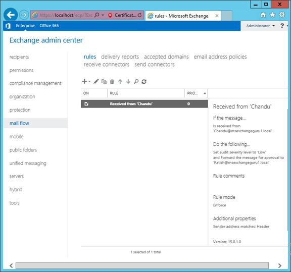 Transport Rules in Exchange Server 2016 « MSExchangeGuru com