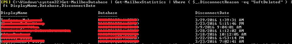 Disconnected Mailboxes in Exchange2016 « MSExchangeGuru com