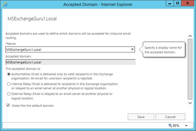 Configure Exchange 2016 – mail flow and client access