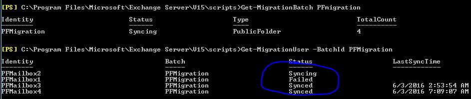 Exchange server 2016 / 2013 public folder – Batch migration