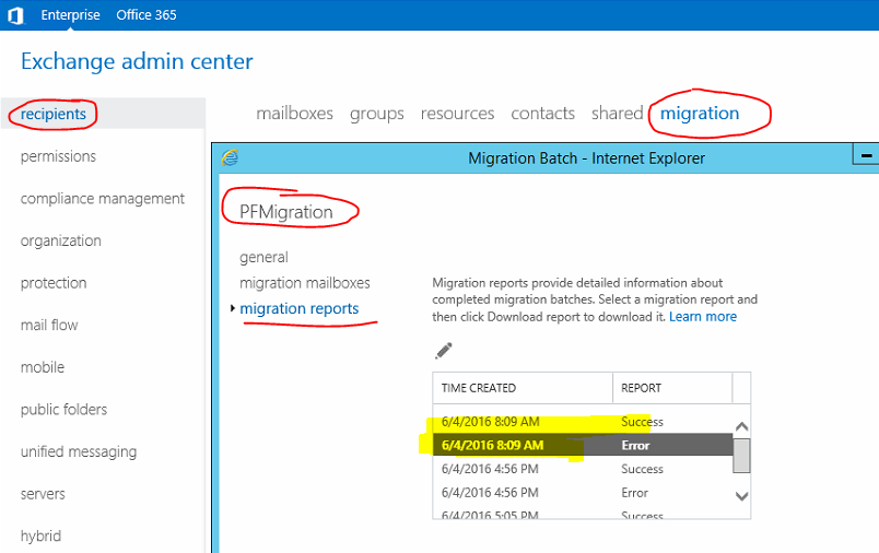 Exchange server 2016 / 2013 public folder – Batch migration