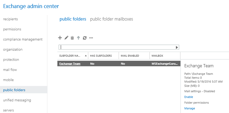 Public Folders in Exchange 2016 – Everything you need to