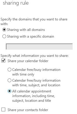 Exchange 2013/2016: Calendar Sharing between 2 Orgs