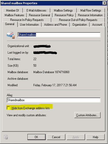 How to send as a Hidden Shared mailbox in Exchange Server
