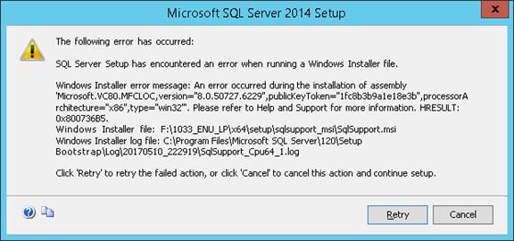 SQL 2014 Standard: Unable to Install « MSExchangeGuru com
