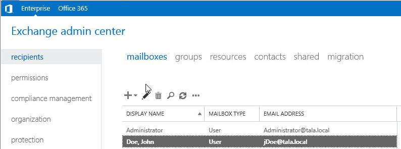 open mailbox. Open Mailbox Delegation \u003e Full Access Add